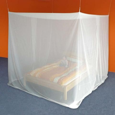 Box shape double bed RF blocking canopy